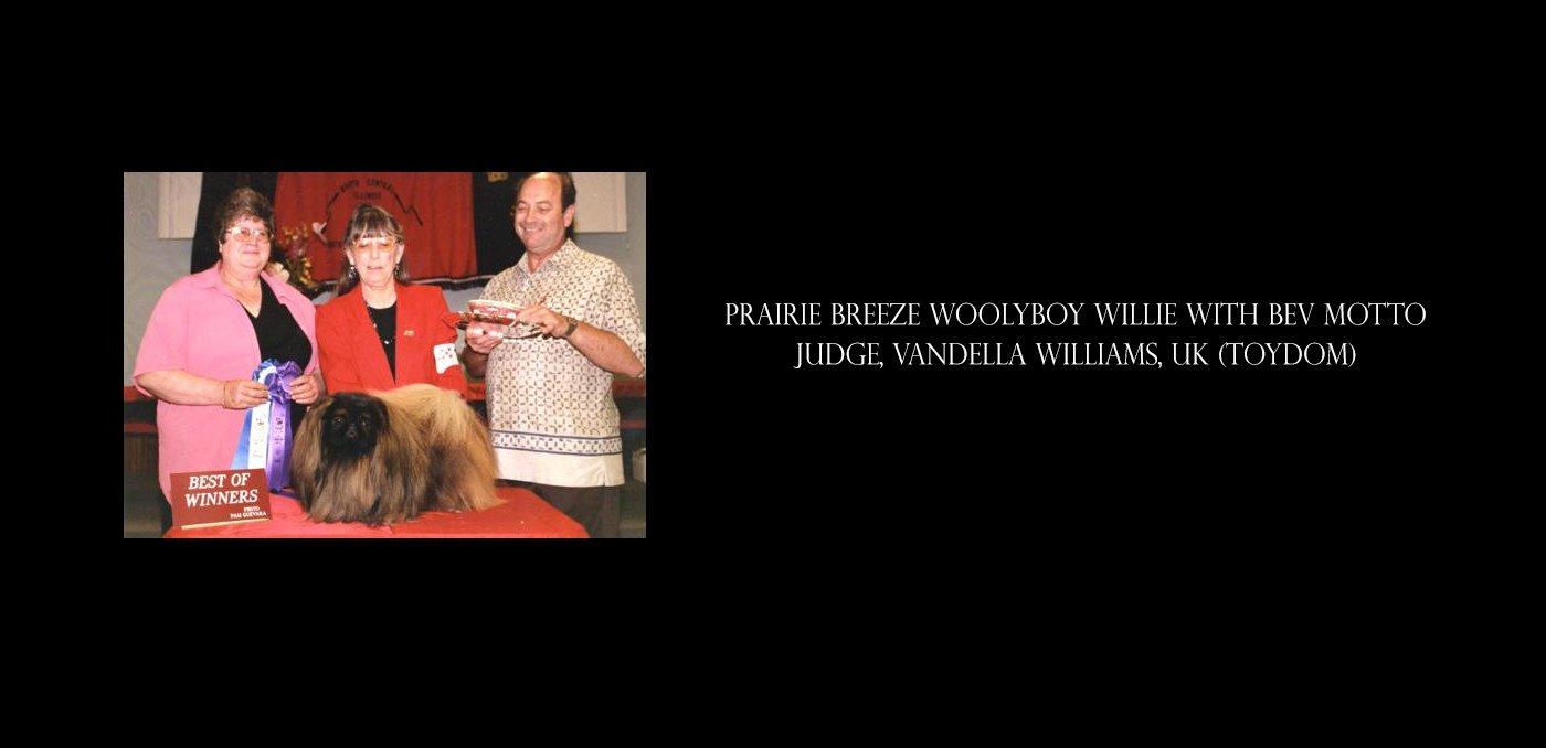 Prairie Breeze Woolyboy Willie with Bev Motto