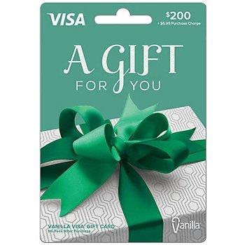 Visa Card Gift Card 200 number 2 1